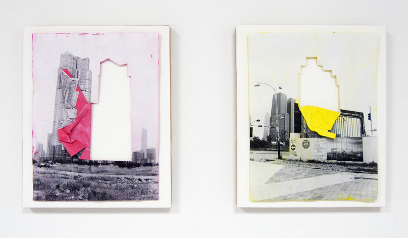 01_DIANA+ARTUS_Drop+out+buildings,+Laser+prints+with+cut+and+yellow+poster+paint,+30+x+24+cm,+2015